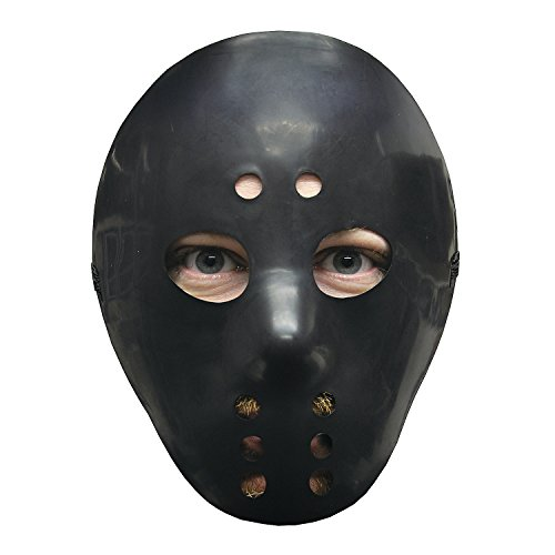 Black Hockey Mask (Black Halloween Hockey Mask)