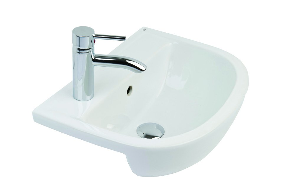 Rak Ceramics COM45SR1LH 45 cm Compact Semi Recessed Basin 1th LH