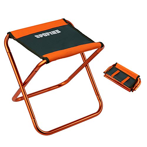 Mini Camp Stool, Lightweight Camping Stool, Portable Folding Camp Chair, Foldable Outdoor Chairs for Travel, Camping, Hiking, Fishing (Large Size: 12