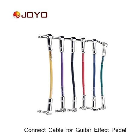 petbly (TM) Joyo Pedal de guitarra Amplificador de Cable colorido Cable de conexión para amplificador para guitarra eléctrica, 6 piezas/set: Amazon.es: ...