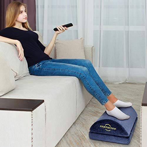 Adjustable Foot Rest – Foot Rest Under Desk Cushion Provides More Comfort for Legs, Ergonomic Footrest Cushion Reduces Pressure on Legs, Ideal for Airplane, Home and Office 415mijYP3XL