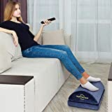 Adjustable Foot Rest - Foot Rest Under Desk Cushion Provides More Comfort for Legs, Ergonomic Footrest Cushion Reduces Pressure on Legs, Ideal for Airplane, Home and Office