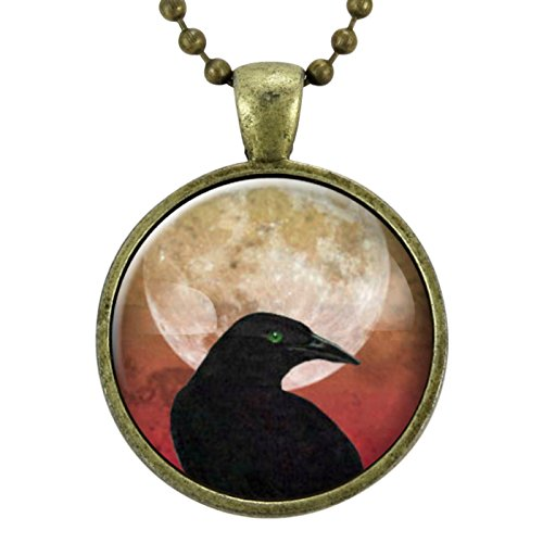 Crow Necklace, Gothic Black Raven Necklace, Goth Jewelry, Halloween Necklace, Wicca, Celtic, Odin's Ravens, Viking Raven -