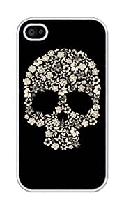 BESTER Skulls and Flowers Plastic For iphone 4, iphone 4S case - Fits for iphone 4s
