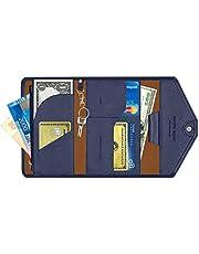 Family Passport Wallet, Multi-purpose Travel Slim Rfid Blocking Purse Document Organizer Holder for Women & Men