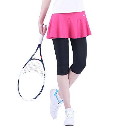 32e SANERYI Women's High Elastic Moisture Wicking Athletic Capri Skirt,Skapri Leggings For Tennis
