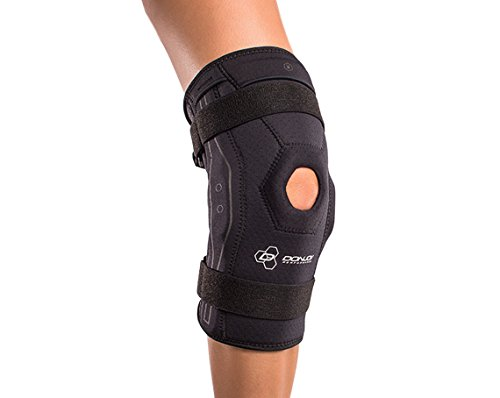 (DonJoy Performance Bionic Knee Support Brace: Black, Large)