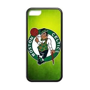 Custom NBA Boston Celtics Logo Cases for iPhone 5C TPU (Laser Technology)