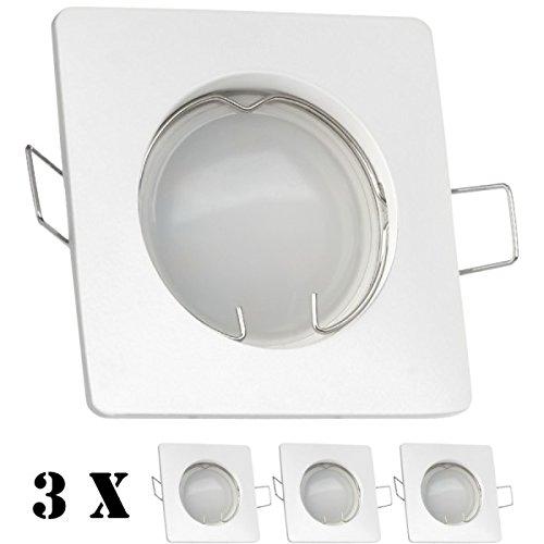 3er LED Einbaustrahler Set Weiß mit 4000K LED GU10 Markenstrahler von LEDANDO - 5W - neutralweiss - 120° Abstrahlwinkel - 35W Ersatz - LED Spot 5 Watt - Einbauleuchte LED tageslichtweiss