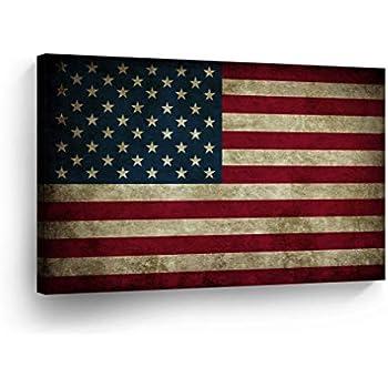 Amazon Com American Flag Framed Art Print 12x18 Fine Art Print