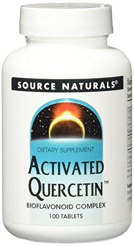 Source Naturals Activated Quercetin Bioflavonoid Complex Antioxidant With Bromelain, Magnesium & Vitamin C - 100 Tablets
