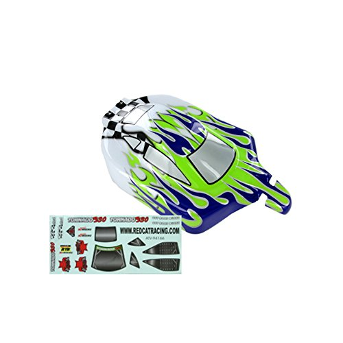 (Redcat Racing Buggy Body (1/10 Scale), Purple/Green/White Flame)