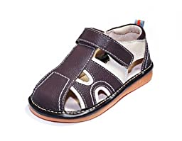 HLT Toddler/Little Kid Boy Summer Fun Brown Squeaky Sandal [US 8 / EU 24]