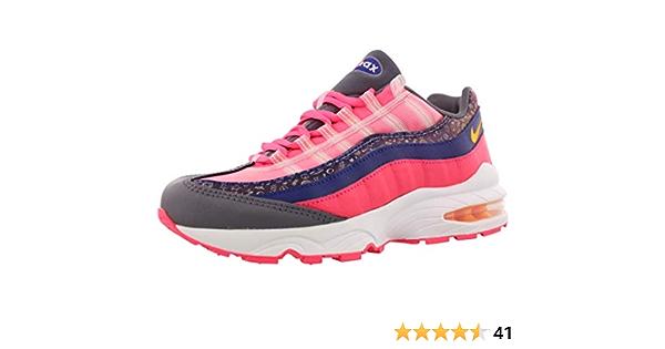 Amazon.com | Nike Air Max 95 GS Kids Regency Purple/Racer Pink ...