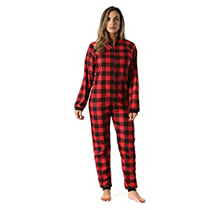 Just Love Printed Flannel Adult Onesie/Pajamas