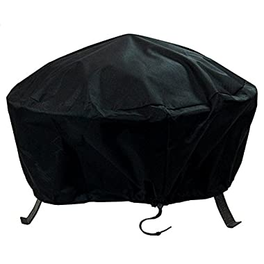 Sunnydaze Round Black Fire Pit Cover, 40 Inch