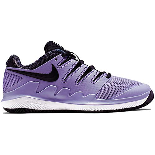 Nike Junior's Vapor X (4 US, Purple Agate/Black/White/Hyper Crimson) (Nike Little Girls Tennis Shoes)
