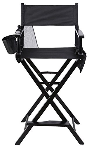 Professional Makeup Artist Directors Chair Wood Light Weight Foldable Black New by Unknown (Image #6)