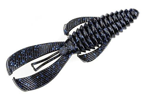 Strike King Rage Tail Bug Lure, Black Blue Flake, -