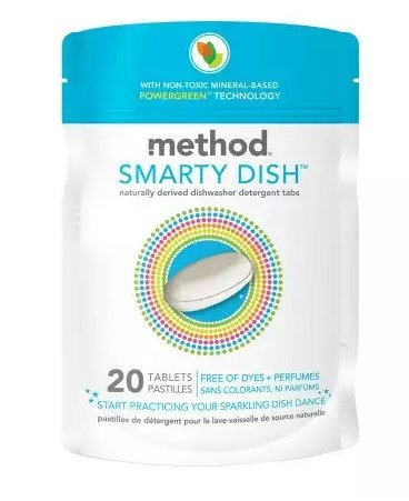 method Smarty Dish Non-toxic Dishwasher Detergent Tabs Free of Dyes + Perfumes 20.0ea - pack of 4 for $<!--$31.99-->