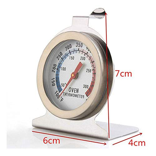 LiPing Kitchen Tools Stainless Steel Oven Thermometer Temperature Gauge for Kitchen BBQ Grill Smoker (2.8in)