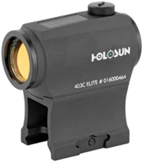 HOLOSUN Elite 2 MOA Dot Night Vision Compatible Solar/Battery Green Dot Sight, HE403C-GR Elite, Black