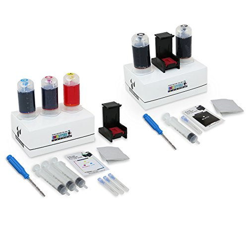 Refill Kit Combo Pack for PG-243 PG243XL Black and CL-244 CL-244XL Color Inkjet Cartridges - Empty Color Inkjet