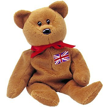 Amazon.com  TY Beanie Baby - BRITANNIA the Bear (UK Exclusive)  Toys ... 282f3971457