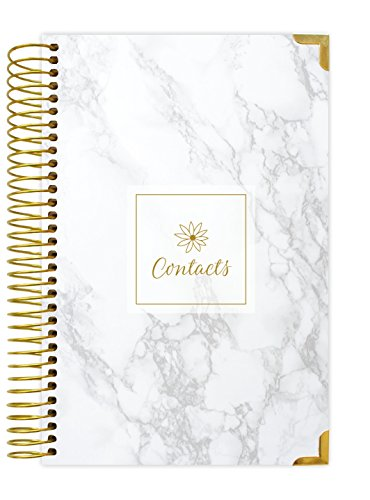 "bloom daily planners Address Book - Contacts - Addresses and Phone Numbers - 6"" x 8.25"" - Marble"