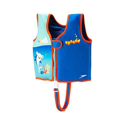 Speedo Begin to Swim Printed Neoprene Swim Vest, Electric Blue, Large