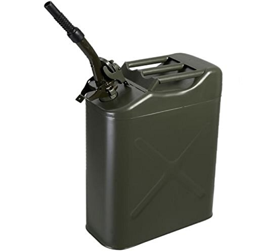 Oil Fuel Gas Steel Tank 20L Gallong NATO Green Jerry Can w/ Free