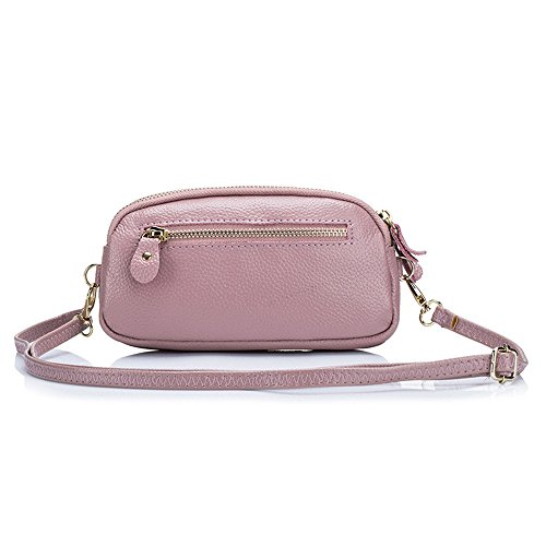 Pink Zipper Crossbody Triple Bag Compartments 2 Small Aladin Womens Wristlet Leather Handbag Purse 1 In CwxA6tq