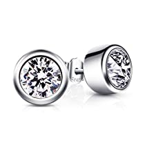 B.Catcher Earrings 925 Sterling Silver Rose Studs Earring for Women