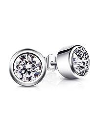 B.Catcher Earrings 925 Sterling Silver Rose Studs Earring for Women