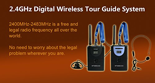 Professional TP-Wireless Tour Guide System for Tour Guiding, Teaching, Travel, Simultaneous Translation,Meeting, Museum Visiting(1 Transmitter and 5 Receivers) by TP-WIRELESS