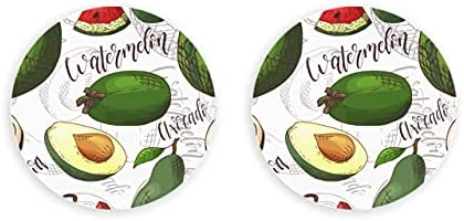 Vector transparente frutas sandía aguacate abridor de tapas de botella 2 piezas abridor de botellas de pared abridor de botellas de pared de nevera