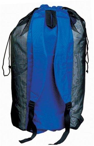 Deep See Heavy-Duty Mesh Backpack (Black/Royal Blue)