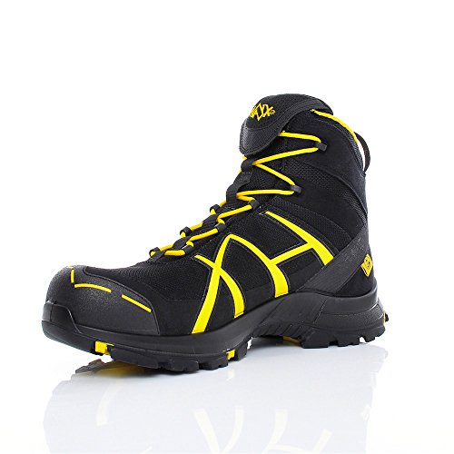 HAIX Herren Sicherheitsschuhe Black Eagle Safety 40 Mid black/yellow gelb, UK 10.0 / EU 45