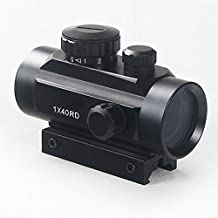 Holographic 007Outdoor Red and Green Dot Sight Scope 1X40mm with 11-20mm Rail Mount for Airsoft