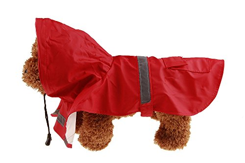 Size XS Red Color Pet Apparel Dog Clothes Dog Raincoat Pet Jacket Rain Pet Waterproof Coat Dog hoodies clothing by Wonder Pet Shop (Image #1)