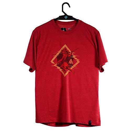 Camiseta Odyssey Alexios, Assassin´s Creed, Masculino, Vermelho Mescla, M