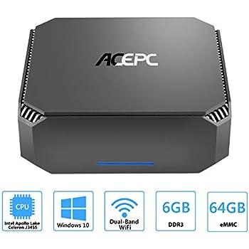 Amazon com: ACEPC AK1 Mini PC, Windows 10 (64-bit) Intel Celeron
