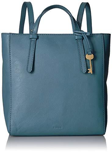 Fossil Womens Camilla Leather Convertible Small Backpack Handbag, Caribbean