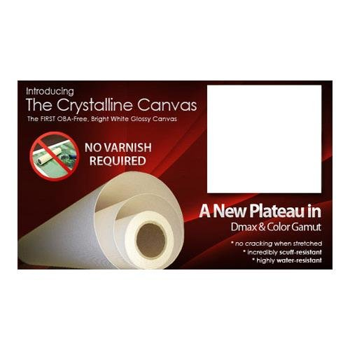 Breathing Color Crystalline Satin Bright White Poly-Cotton Inkjet Canvas, 21 mil, 440 gsm, 24