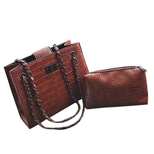 Crocodile Coffee Handbag - Memela Bag Women Hand Bag Tote Bag Crocodile Pattern Mother Bag Shoulder Bag Chain Handbag Messenger (Coffee)