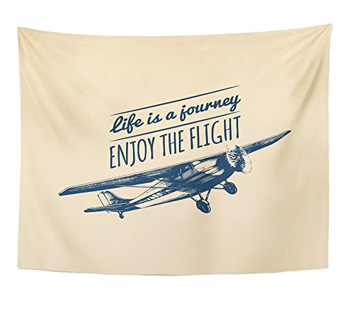 Emvency Tapestry Journey Motivational Airplane product image