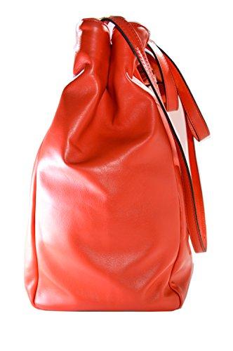 Borsa Donna OBLIO by OAKS- in Vera Pelle con fodera e taschini interni,colore Rosso, chiusura con bottone automatico, molto capiente; realizzazione artigianale, 100% Made in Italy,
