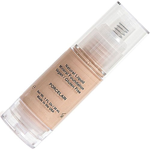 Ivory Liquid Mineral Foundation, Oil Free with Creamy Smooth Application That's Moisturizing for Sensitive and Aging Skin In a Compact Bottle - Porcelien