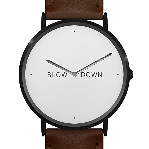Limited Edition 'Slow Down' Wrist Watch - Unique Watch for Men and Women, Adults & Teens - 100% Warranty