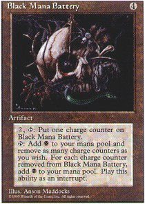 Magic: the Gathering - Black Mana Battery - Fourth Edition (Mana Singles)